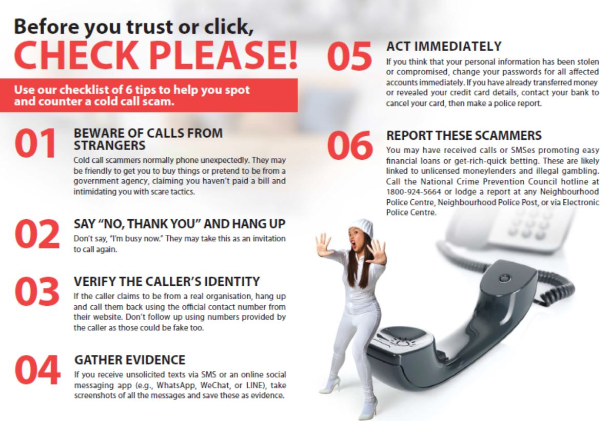 Cold call scam tips