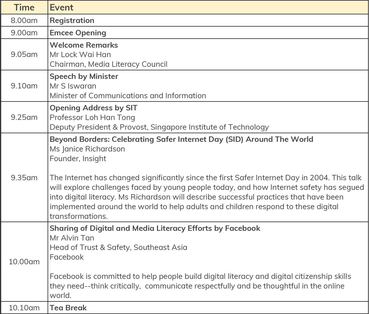 MLC | Full Programme Schedule